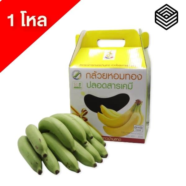 กล้วยหอมทอง แบบกล่อง 1 โหล (1 หวีประมาณ 12-16 ลูก) - สหกรณ์การเกษตรบ้านลาด