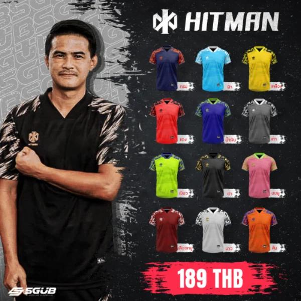 เสื้อกีฬา HITMAN สีดำ