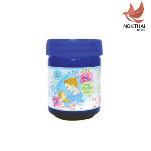 ปริษา เบบี้ บาล์ม by นกไทย - บาล์มเด็ก - 50 กรัม (แถม!! ยาสีฟันสมุนไพร 8g x 2ชิ้น)