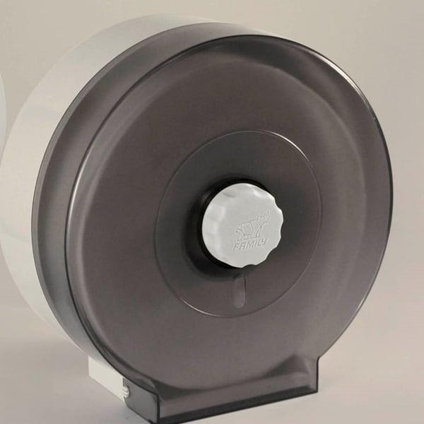 Family Tissue Box กล่องใส่กระดาษชำระม้วนใหญ่ สีดำ ติดผนัง