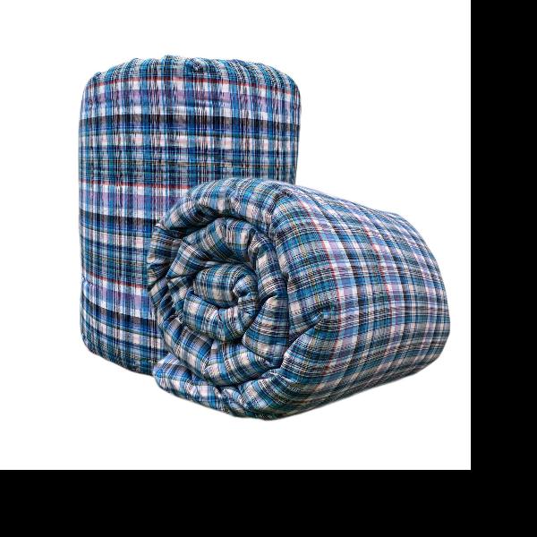 ผ้าห่มนวมฝ้ายแท้ 100 เปอร์เซ็นต์ ขนาด 4.5 ฟุต ผ้าฝ้ายลายสีฟ้า