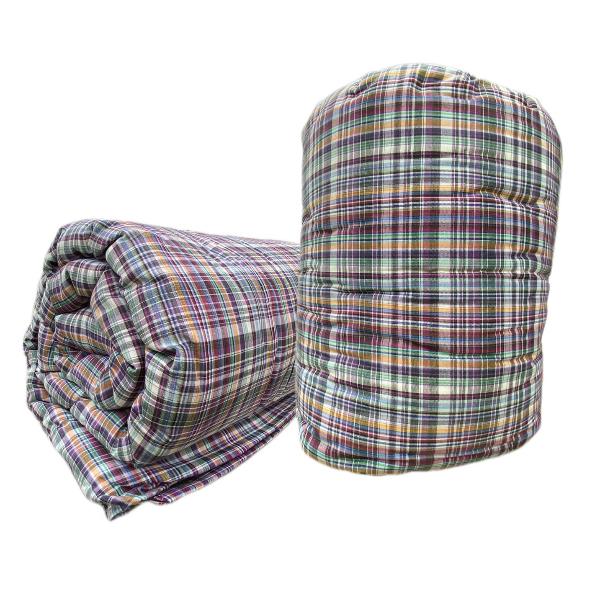 ผ้าห่มนวมฝ้ายแท้ 100 เปอร์เซ็นต์ ขนาด 4.5 ฟุต ผ้าฝ้ายลายสีม่วง