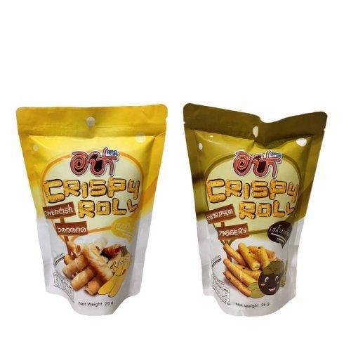 อิป้าทองม้วน (รสกล้วยหอมและรสน้ำตาลโตนด) 24 ซอง/กล่อง