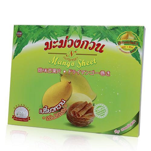 มะม่วงกวน สวนเนรัญชลา รสเปรี้ยวหวาน (กล่องกระดาษ) 220 กรัม (2กล่อง/ชุด)