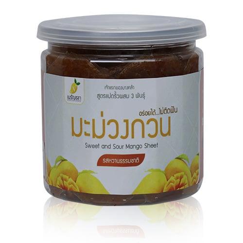 มะม่วงกวน สวนเนรัญชลา รสชาติหวาน (กระปุก) 150 กรัม (2กระปุก/ชุด)