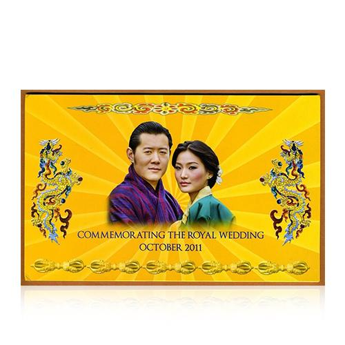 ธนบัตรที่ระลึกพระราชพิธีอภิเษกสมรสกษัตริย์จิกมีแห่งภูฏาน