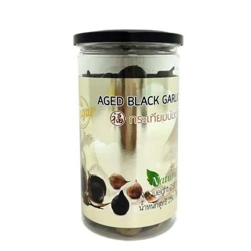 กระเทียมดำ 250 กรัม (มีเปลือก)(1 ชุด/1 กระปุก) อารมณ์ดีฟาร์ม