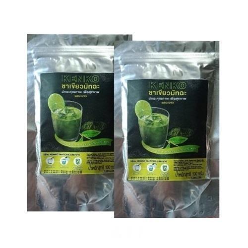 KENKO ชาเขียวมัทฉะ รสมะนาว ชงได้ในน้ำเย็น เปรี้ยวหวานลงตัว