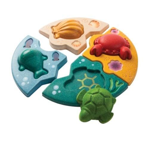 ของเล่นเด็ก จับคู่สัตว์ทะเล (MARINE PUZZLE)