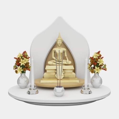 หิ้งบูชาพระ Grand Buddha Shelf สีขาว