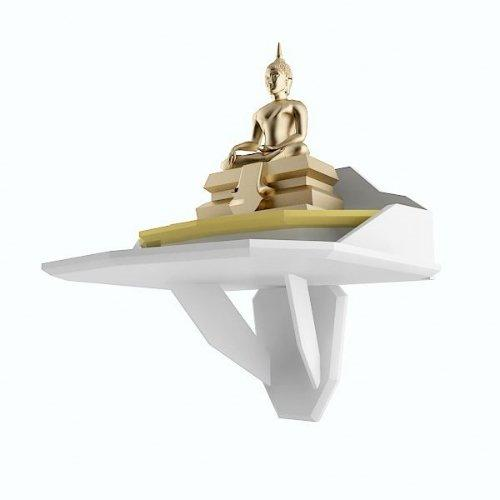 หิ้งบูชาพระ Buddha Space สีขาว