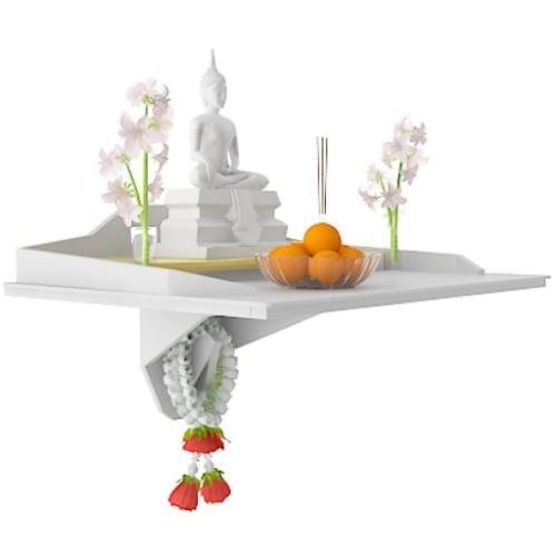 หิ้งบูชาพระ Buddha Agaligo สีขาว