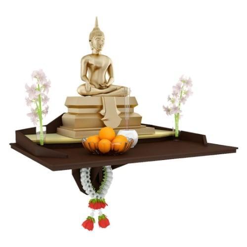 หิ้งบูชาพระ Buddha Agaligo สีเอสเพรสโซ่