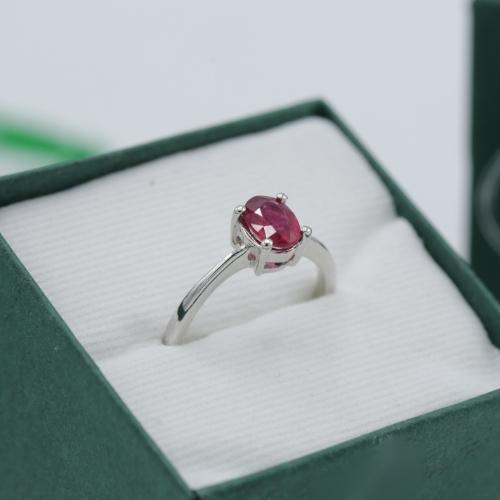 แหวนประจำราศีกรกฎ ทับทิม (ไซส์ 50)