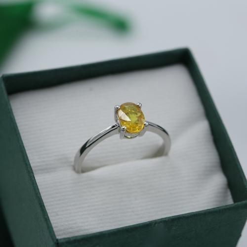 แหวนประจำวันเกิด วันจันทร์ บุษราคัม (ไซส์ 60)