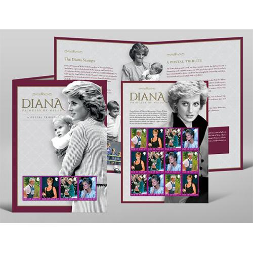 Diana Princess of Wales Stamp Pack