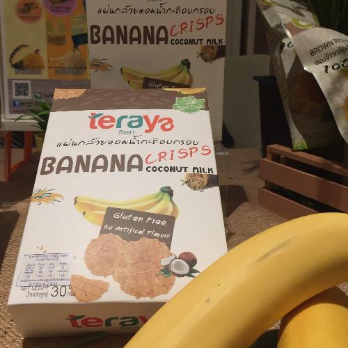 Teraya แผ่นกล้วยน้ำกะทิอบกรอบ