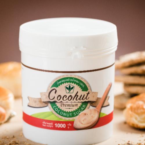 น้ำตาลมะพร้าวน้ำหอมบริสุทธิ์ โคโค่ฮัท ขนาด 1,000 กรัม
