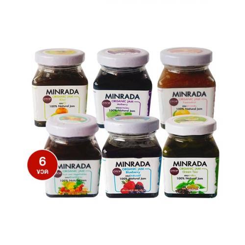 Minrada Organic Jam ขวดละ 220 g บรรจุ 6 ขวด