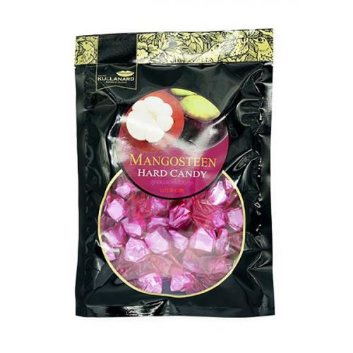 ลูกอมฮาร์ดแคนดี้รสมังคุด Mangosteen Center Filled Hard Candy แบบลัง