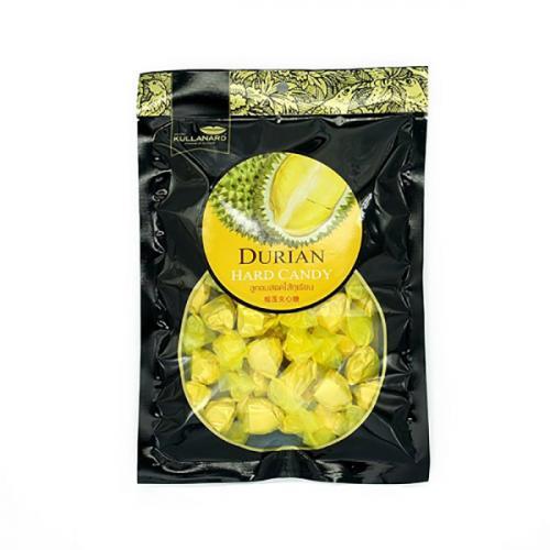 ลูกอมฮาร์ดแคนดี้รสทุเรียน Durian Center Filled Hard Candy แบบลัง