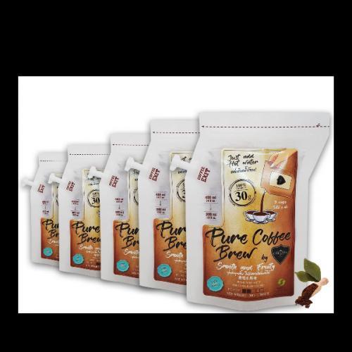 กาแฟบด Coffee Brew Bag by CAFE R'ONN 5 X ถุง อาราบิก้า 100% คั่วอ่อน 150 กรัม(30g/ถุง,ชงได้3แก้ว/ถุง)