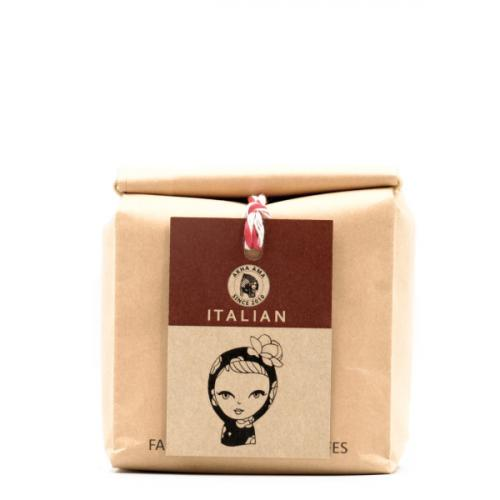 akha ama coffee เมล็ดกาแฟคั่วกลาง Italian 250 กรัม ไม่บด