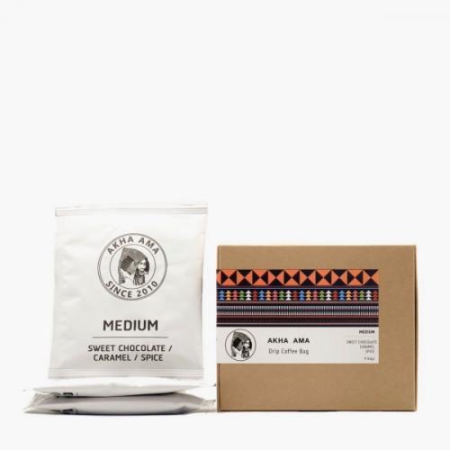 กาแฟดริปแบบซอง คั่วกลาง akha ama coffee Drip bags Medium Roast