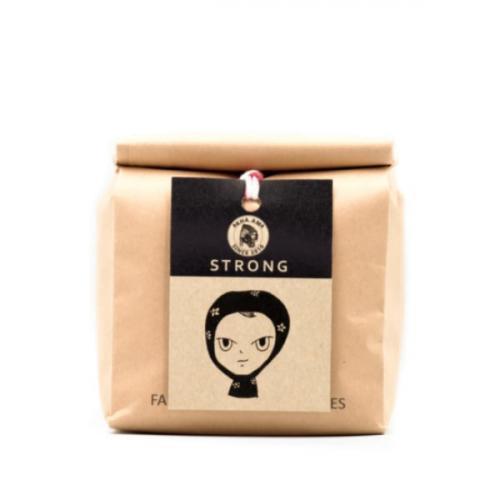 akha ama coffee เมล็ดกาแฟคั่วเข้ม Strong 250 กรัม บด