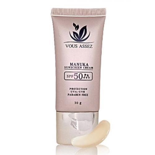 ครีมกันแดด Vous Assez Manuka Sunscreen Cream SPF 50 PA+++ ขนาด 30 กรัม