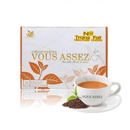 ชาควบคุมน้ำหนัก Vous Assez Tea Mix (Block & Burn) 1 กล่อง ขนาด 180 กรัม