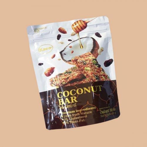 ธัญพืชอบกรอบ coconut bar 100 กรัม (4 ถุง)