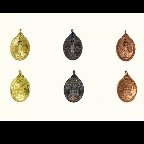 เหรียญไอ้ไข่ ชุดรวม 3 เหรียญ ( เนื้อสีทอง, เนื้อนาก, เนื้อสำริด )