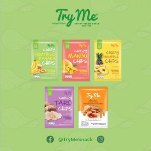 Try Me (ทายมี) ผลไม้/เผือกไทยกรอบ   Set 36 ซอง/ลัง คละรส