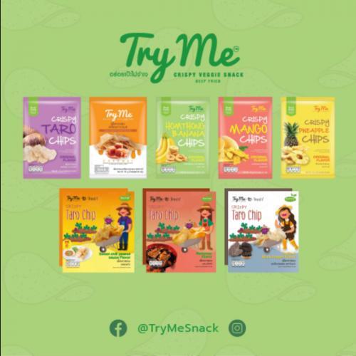 Try Me (ทายมี) ผลไม้/เผือกไทยกรอบ  Set 8 ซอง รสครบทุกรส